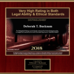 Deborah Bucknam received a very high rating in Legal Ability & Ethical Standards.