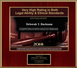 Deborah Bucknam received Very High Rating in Legal Ability & Ethical Standards
